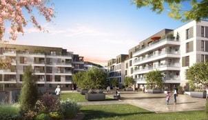 Perspective extérieure du programme L'Allée Felibien situé à Nantes