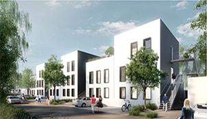 Programme de la résidence Les jardins du Moulin situé à Wavrin dans le Nord-Pas-de-Calais