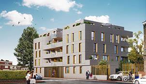 Programme de la résidence Greystone situé à Lille dans le Nord-Pas-de-Calais
