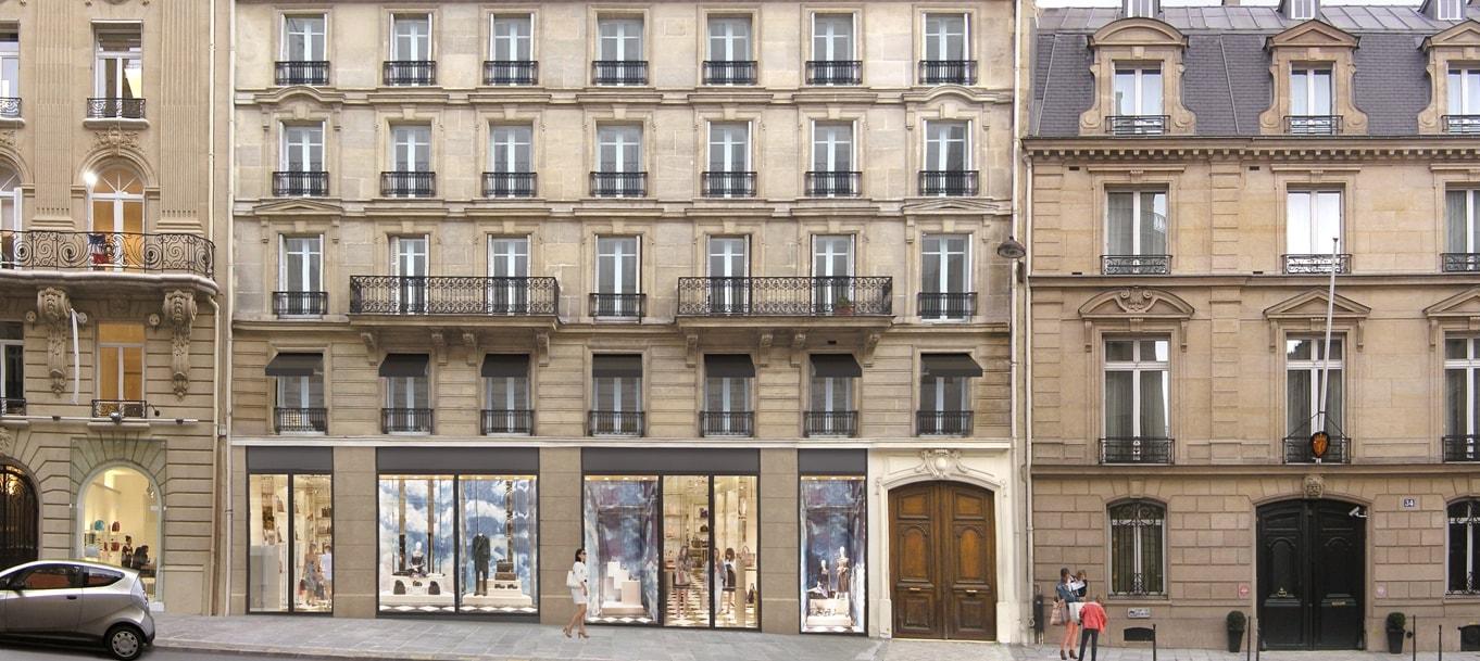 Perspective extérieure du programme 38 François 1er situé à Paris