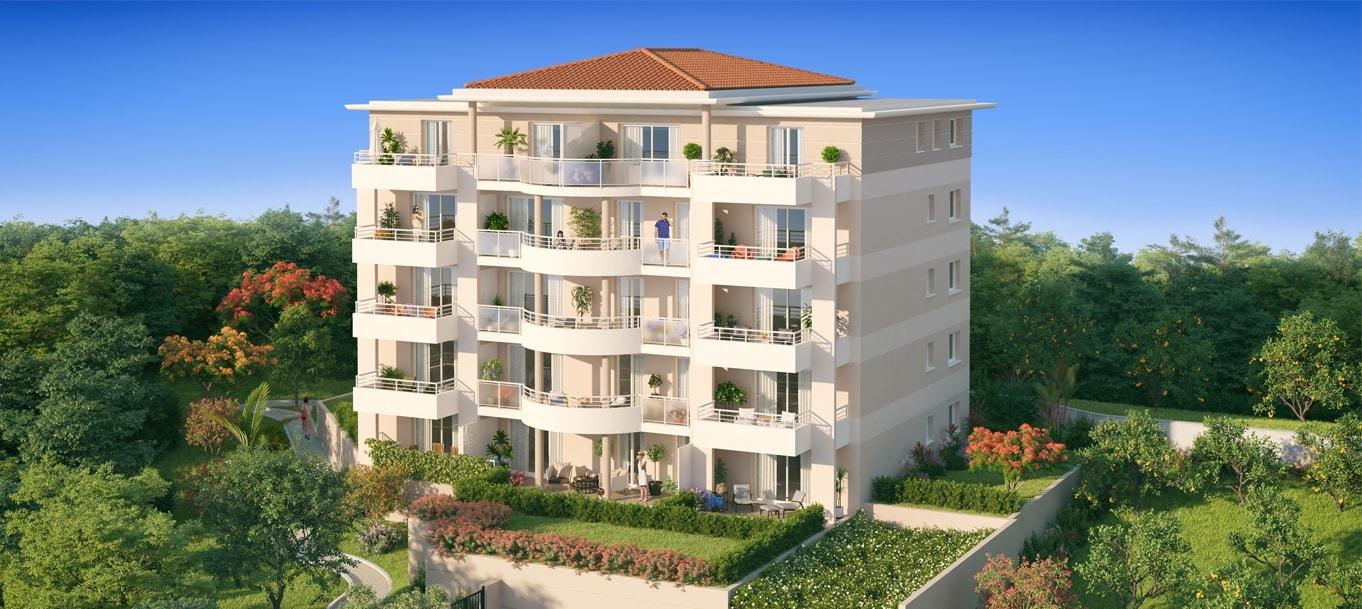 Perspective extérieure du programme Panoramer situé à Nice