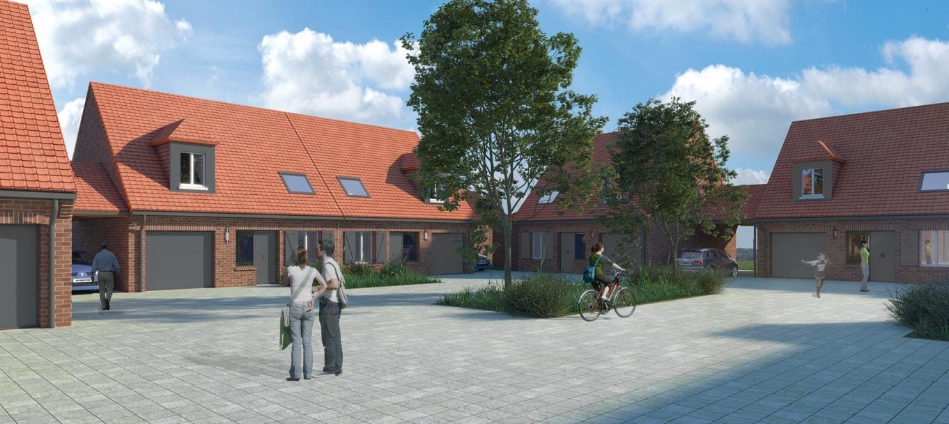 Perspective extérieure du programme Privilège situé à Loos