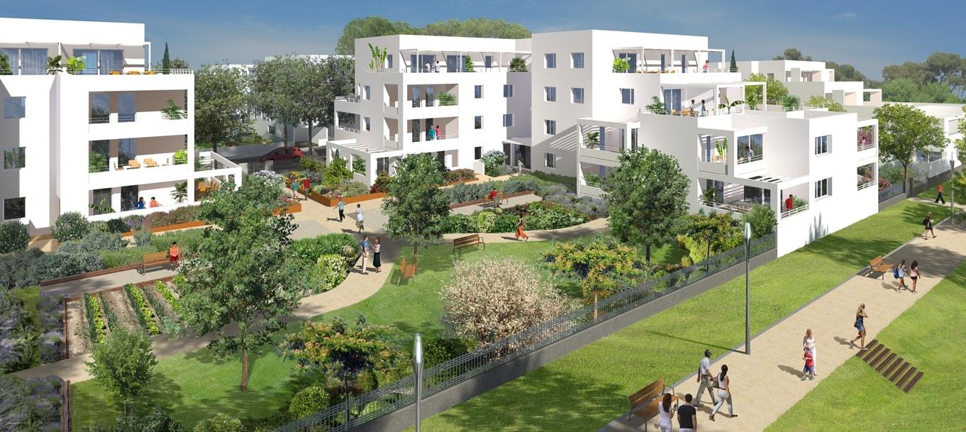 Perspective extérieure du programme Park View situé à Montpellier