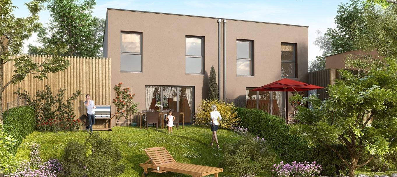 Perspective extérieure du programme Les Villas Saint Honoré situé à Amiens