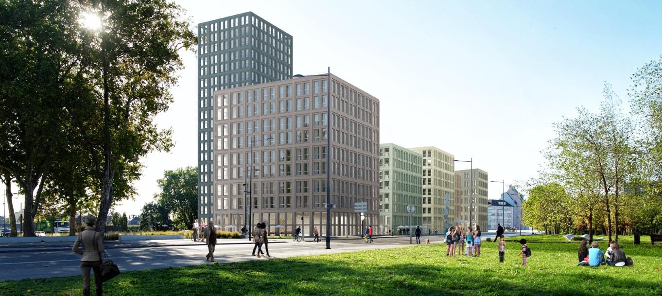 Perspective extérieure de la Résidence Calypso située à Strasbourg