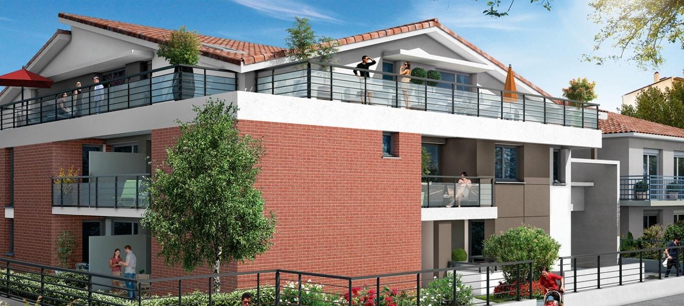 Perspective extérieure du programme Villa Ponsan situé à Toulouse