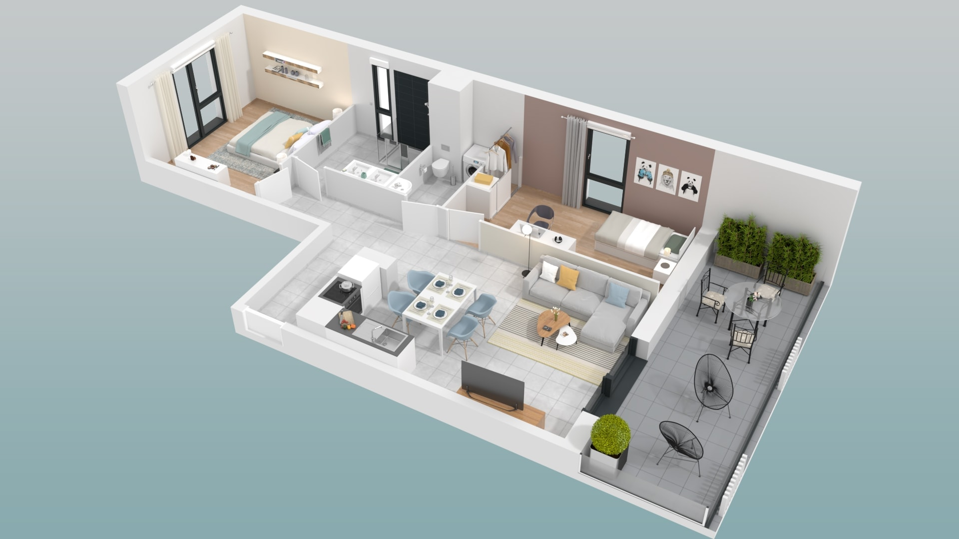 plan appartement ideal