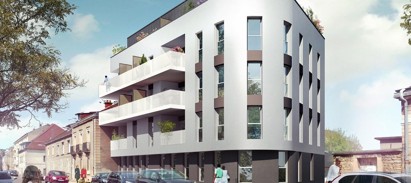 Perspective extérieure du programme Grand Angle situé à Dijon