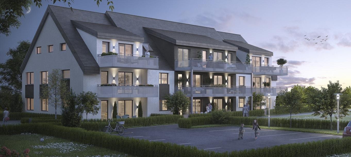 Perspective extérieure du programme Reiner situé à Achenheim