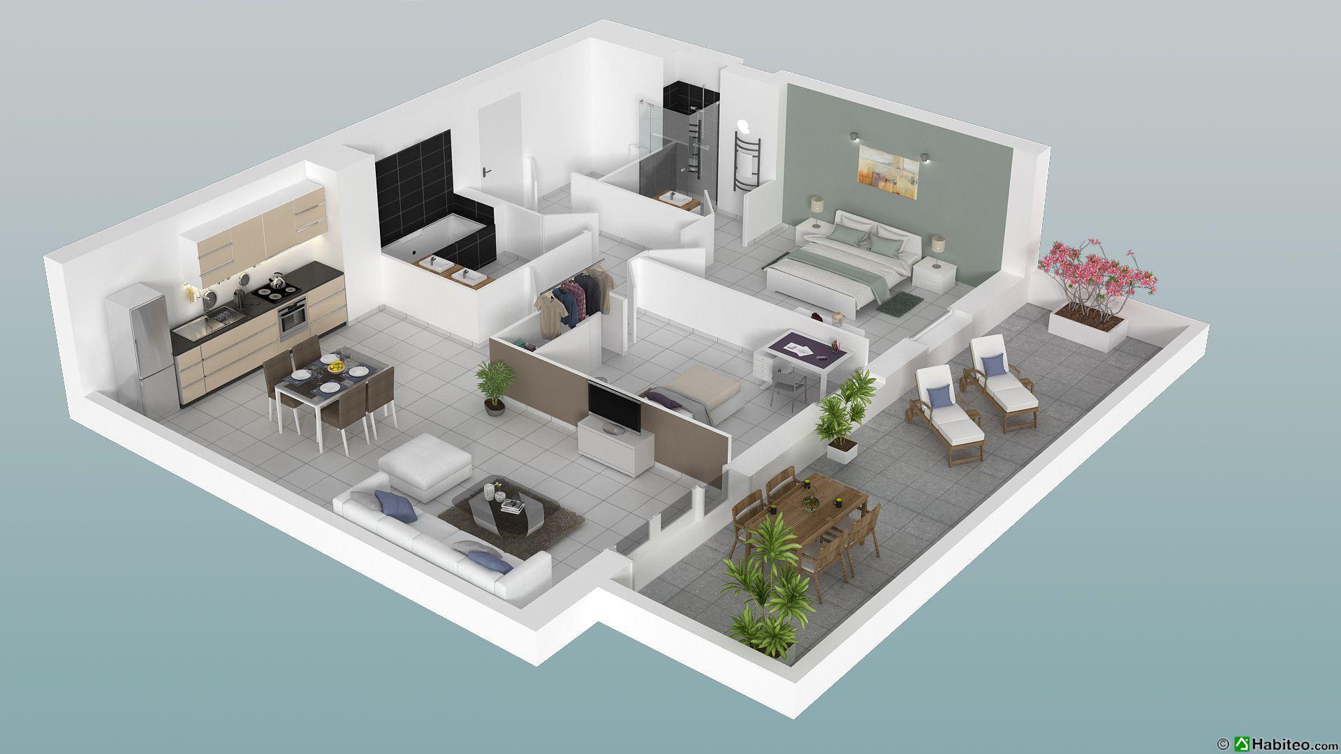 plan d un appartement de 3 pièces