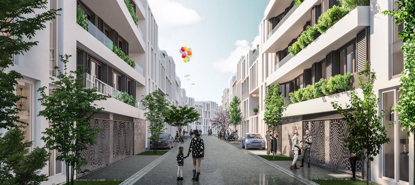 Perspective extérieure du programme Be Chartrons situé à Bordeaux