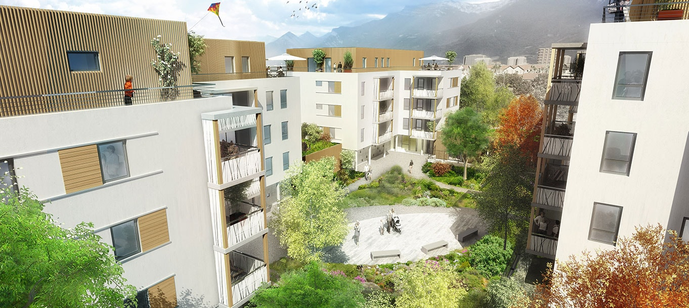 La résidence Ovalie à Grenoble (Isère)