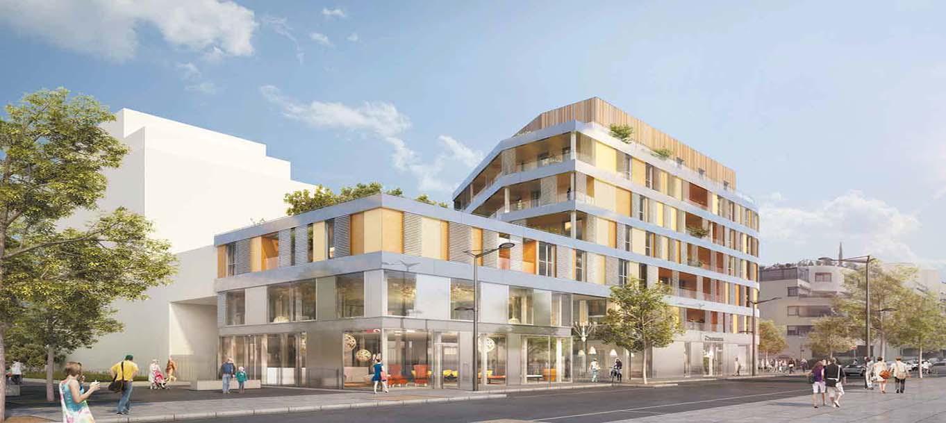 Perspective extérieur de la résidence Appartements Lux située à Lyon