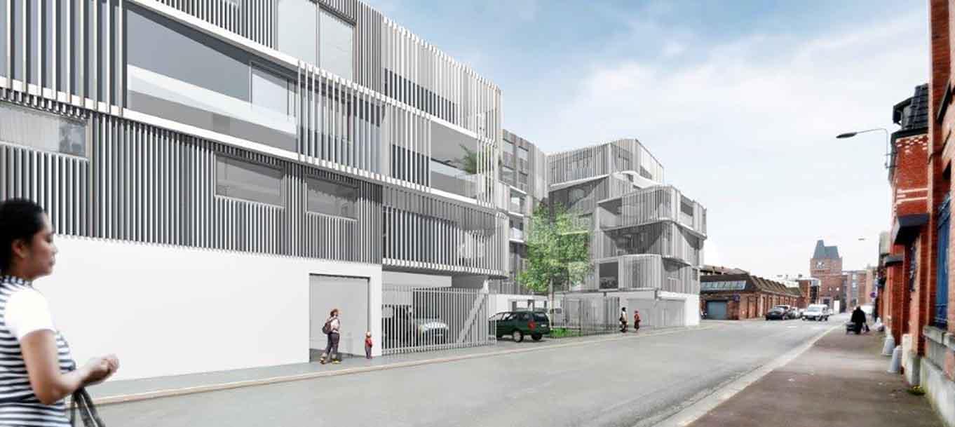 Perspective extérieure de la résidence Harmonia située à Lille