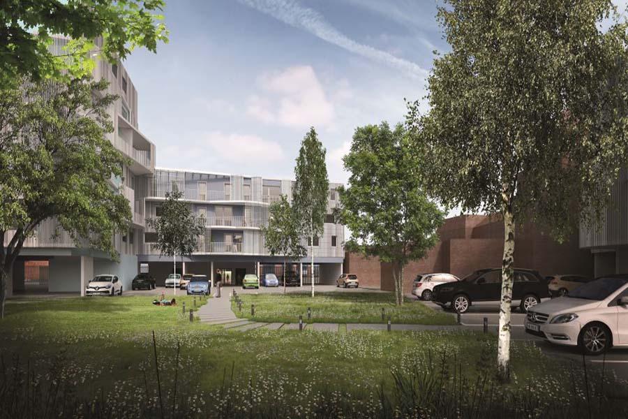 Vue générale de la résidence Harmonia située à Lille dans le Nord-Pas-De-Calais