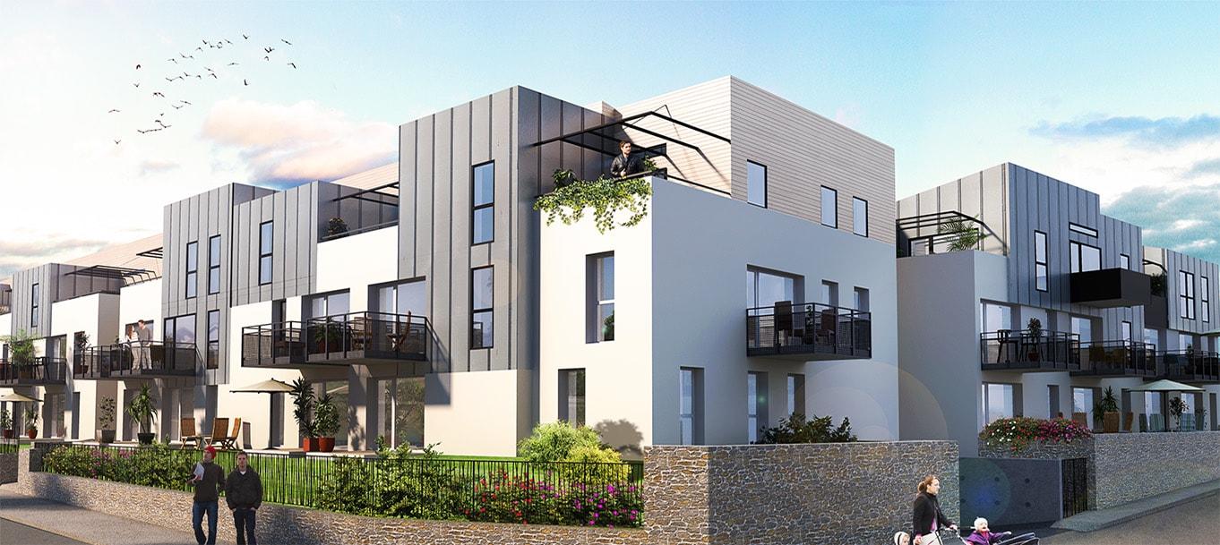 La résidence les terrasses du forestou situé à Brest en Bretagne