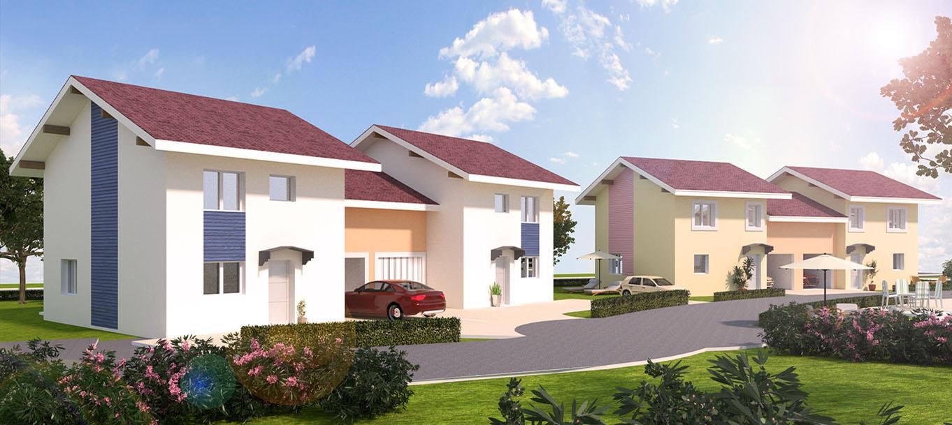 La résidence La Marjolaine vue extérieur située à Amphions-les-bains en Rhône-Alpes