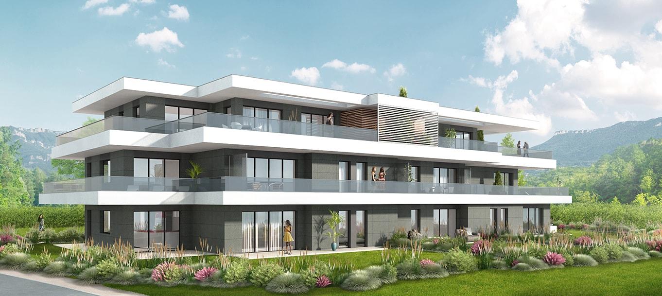 La résidence l'Unik situé à Brison-Saint-Innocent en Rhône-Alpes