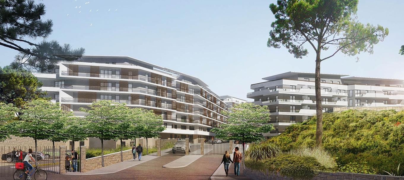 La résidence Green Domaine à Cannes (Alpes-Maritimes)