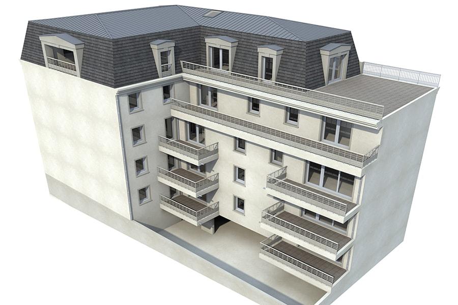 Vue général de la résidence Le Clos Joli située à Aix-Les-Bains
