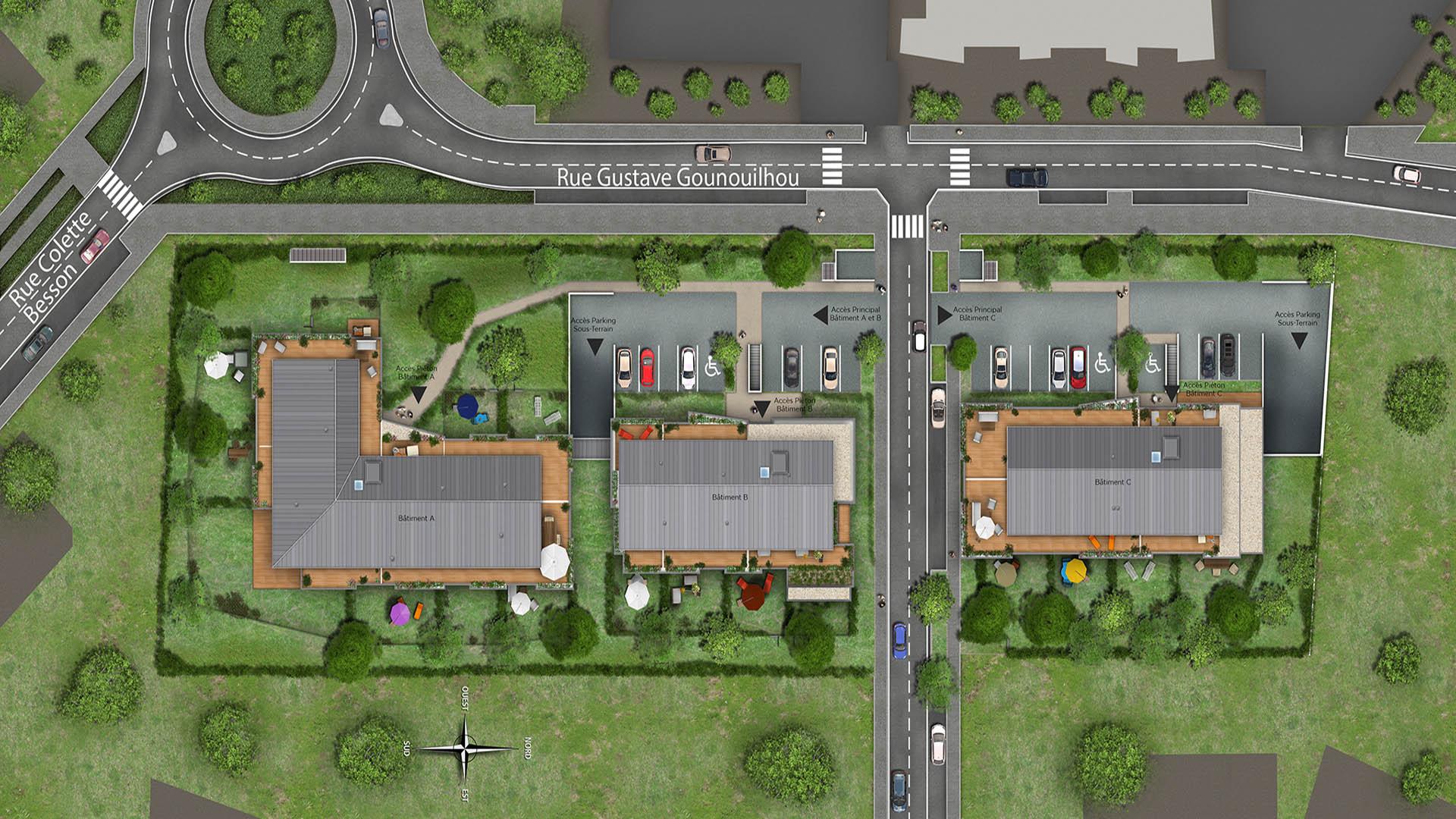 Villenave-d'Ornon France  City new picture : Plan de masse de la résidence Sérénité situé à Villenave d'Ornon ...