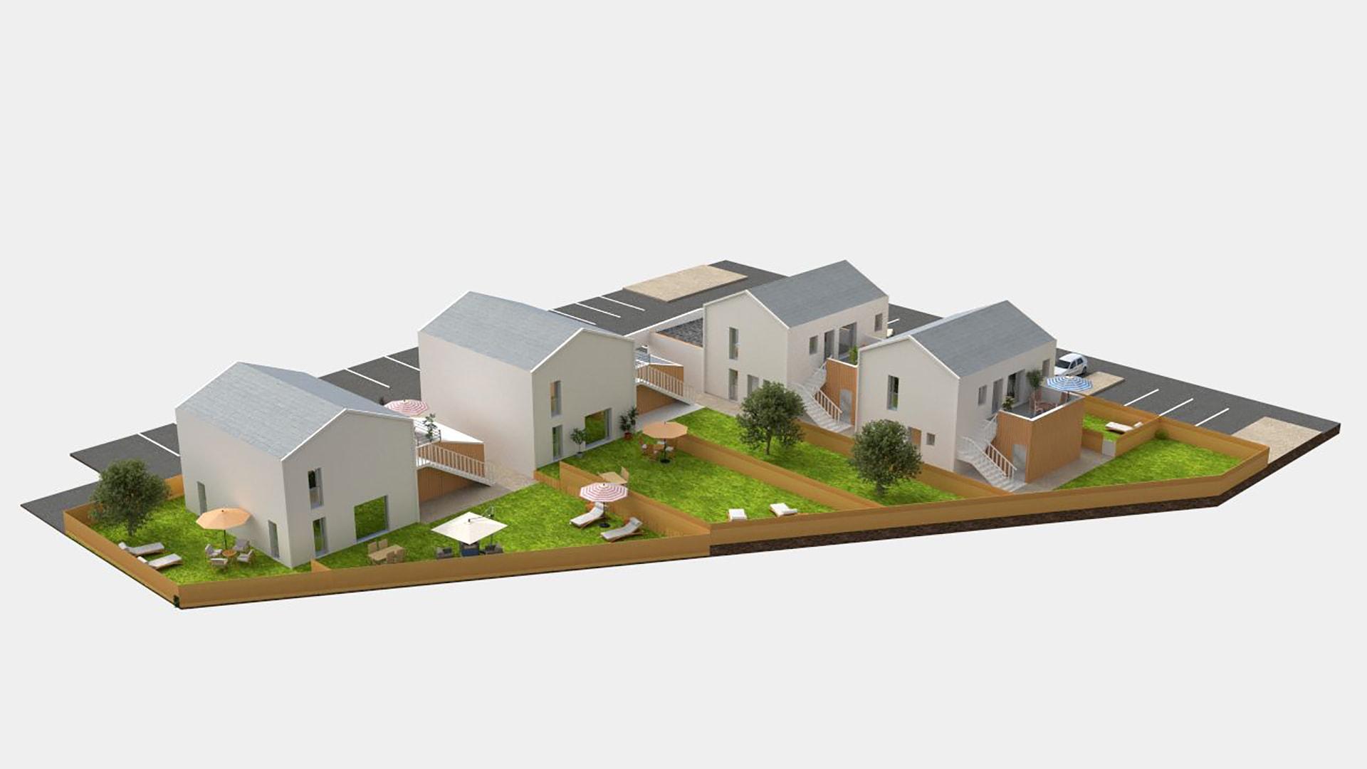Habitat terrasse jardin programme immobilier neuf org res for Jardin orgeres