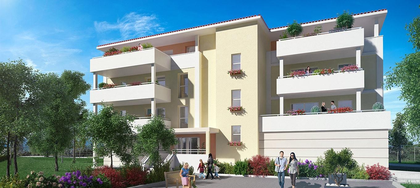 La résidence Les terrasses du Jonquiers à Orange situé en Provence-Alpes-côte d'Azur