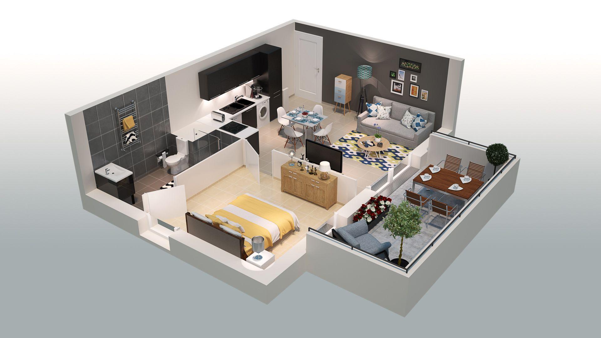 Les terrasses du jonquier programme immobilier neuf orange - Plan appartement 40m2 ...