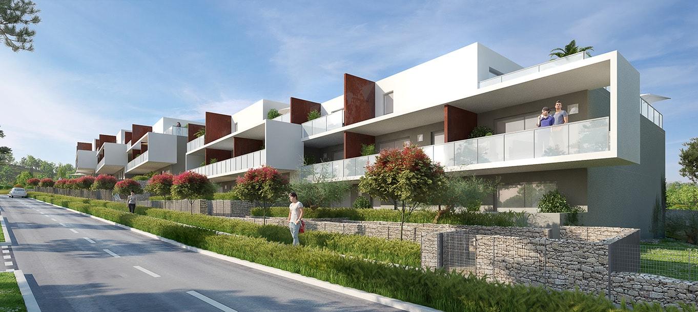 La résidence Les Terrasses du Mont Ventoux située au Rochefort du Gard en Languedoc Roussillon