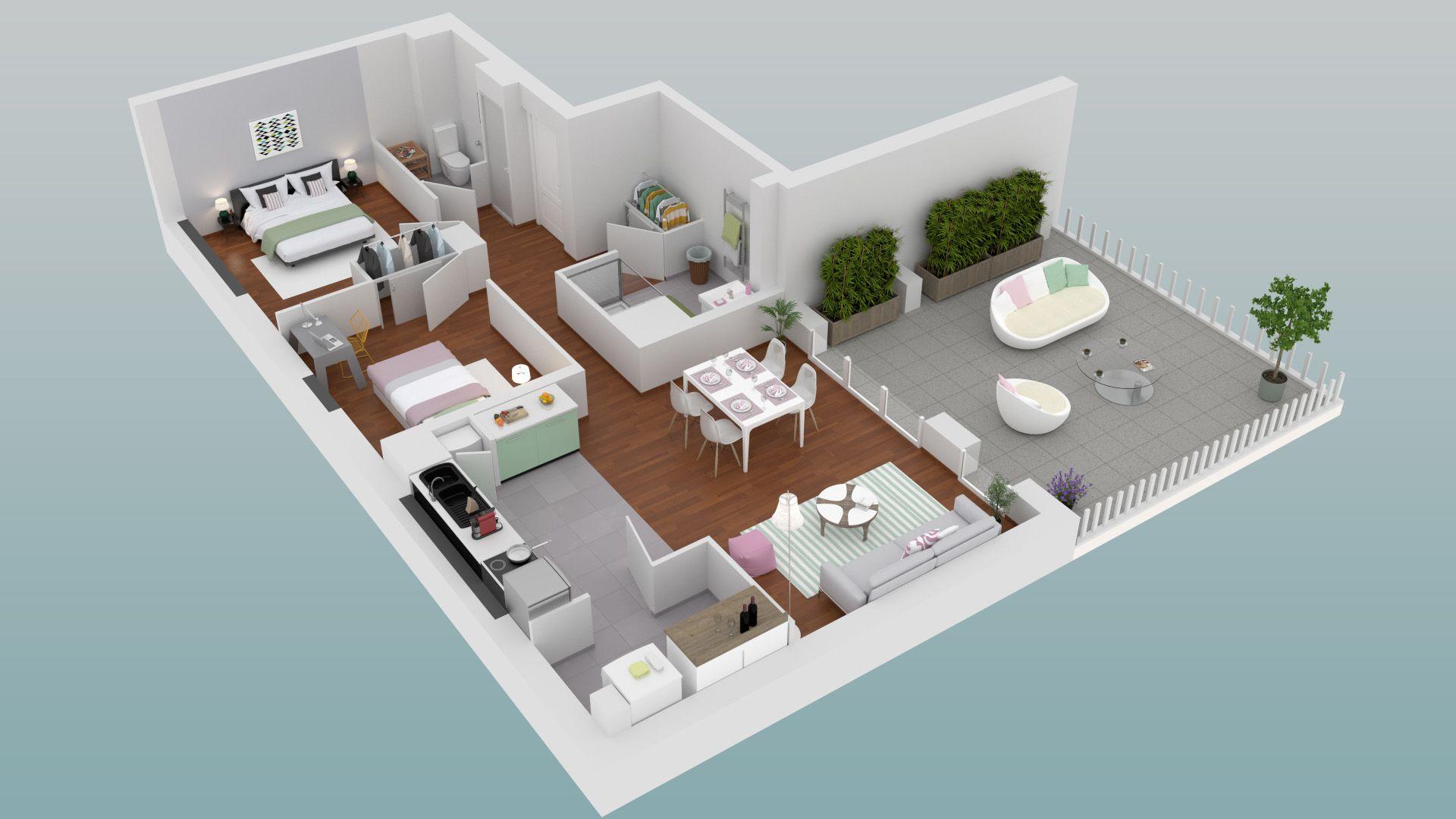 Amazing Amazing Plan D Duun Appartement Pices Du Programme De La Rsidence  Luchalas With Plan D Appartement D With Simulation Appartement 3d