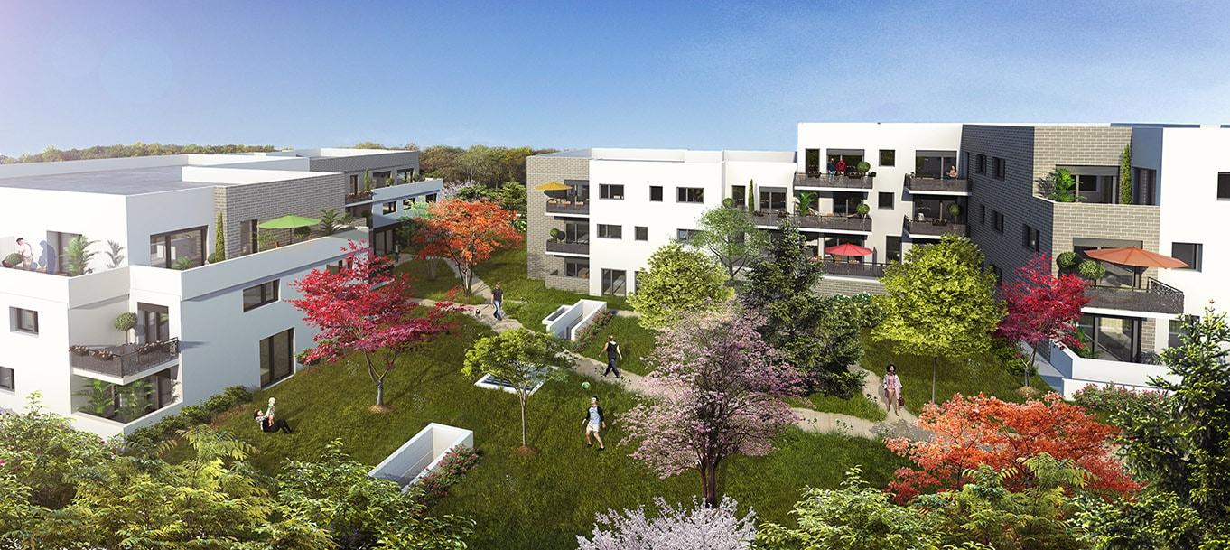 La résidence Coeur 2 parcs situé à Oullins en Rhône Alpes