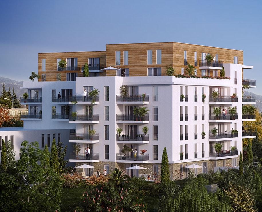Vue générale du programme de la résidence Nouvelle Perspective situé à Marseille en Provence-Alpes-côte-d'Azur