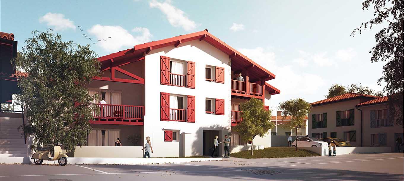 La résidence Bordagain Bizia situé à Ciboure en Aquitaine