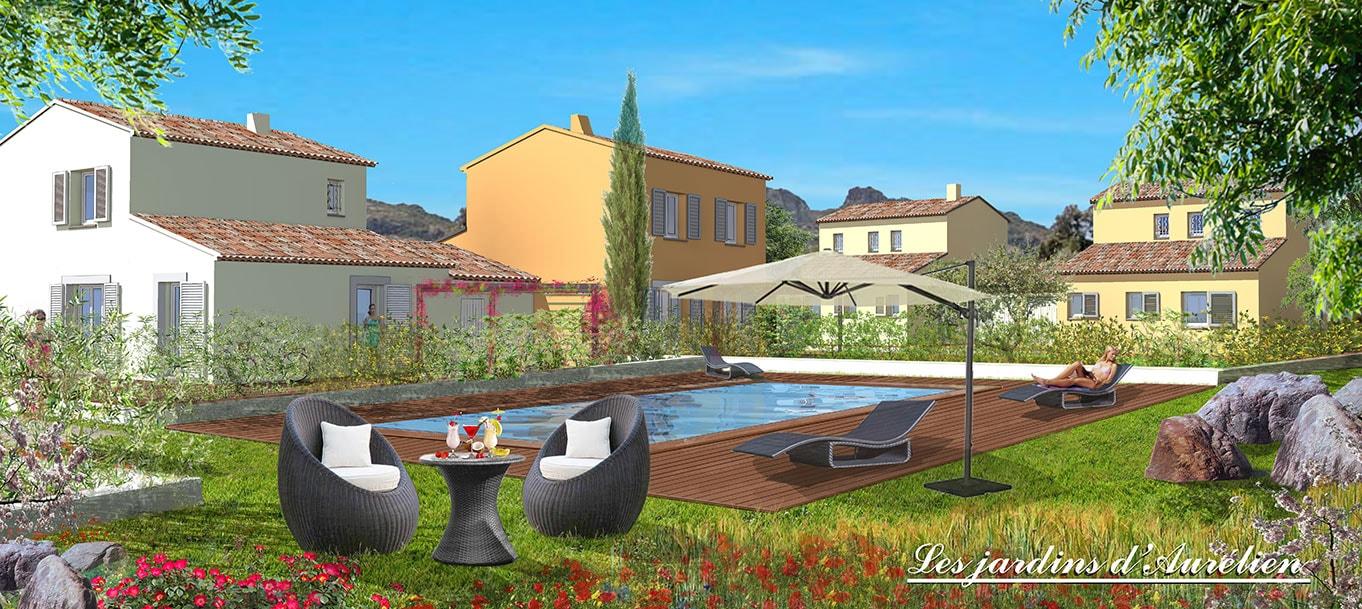 Découvrez la résidence des Jardins d'Aurélien à Roquebrune-sur-Argens (Var)