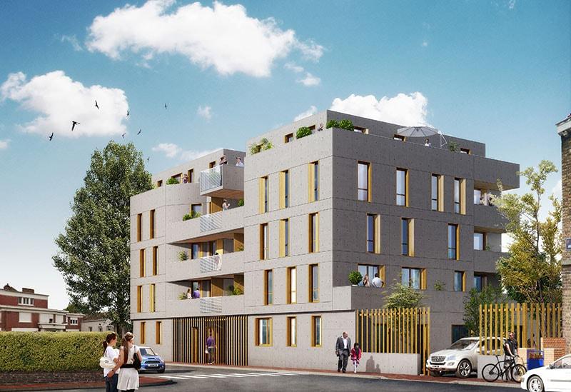 Vue du Projet Immobilier Greystone à Lille