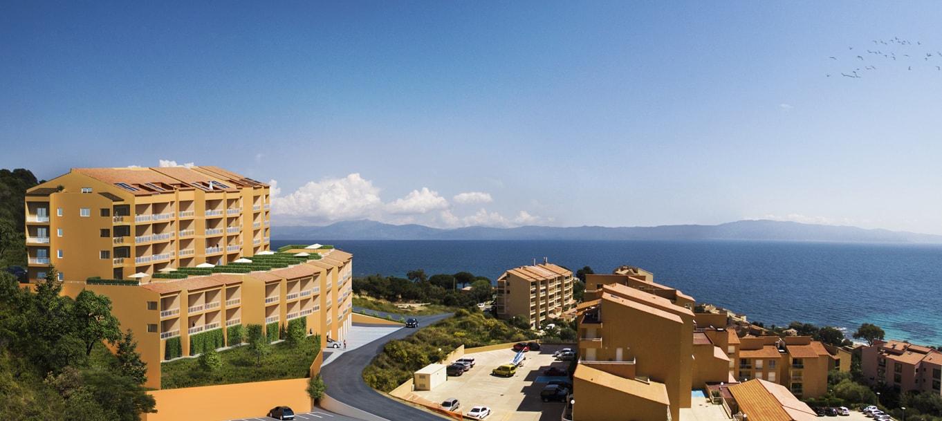 La résidence Santa Lina le panoramique située à Ajaccio