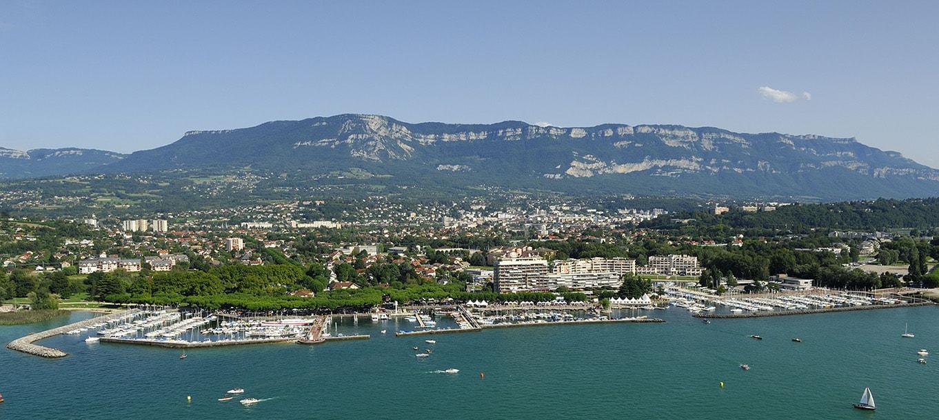 La résidence Obsidienne situé à Aix-les-Bains dans les Rhône-Alpes