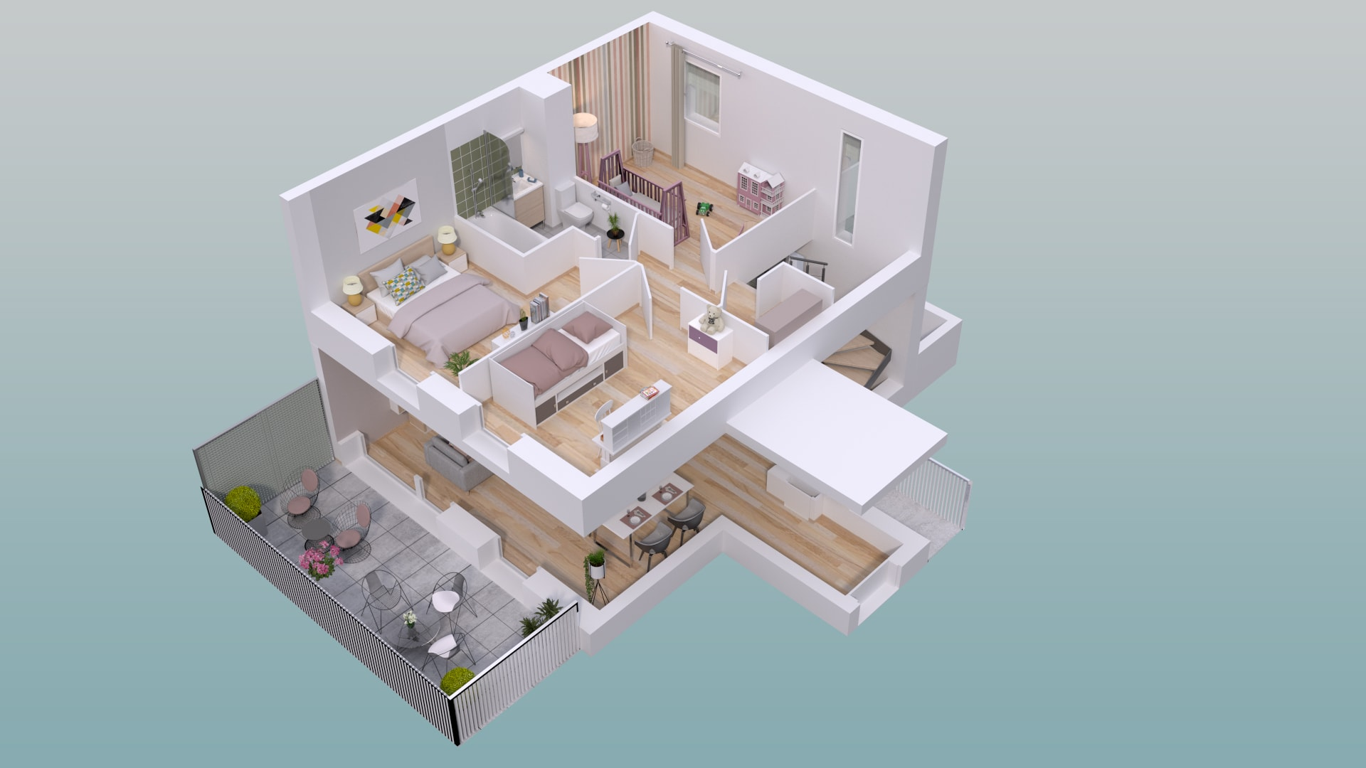 plan appartement etage