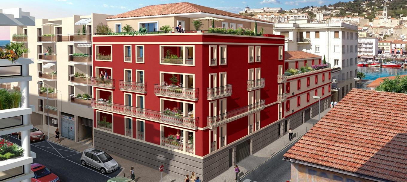 Perspective du programme Pavillon Carmin situé à Sète