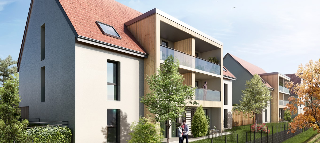 Perspective du programme Le Clos du Verger situé à Eckwersheim