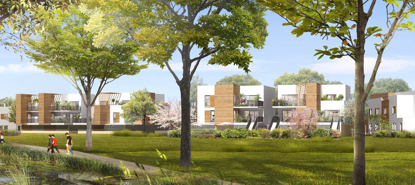 Perspective du programme Les Jardins du chêne rond situé à Marcoussis