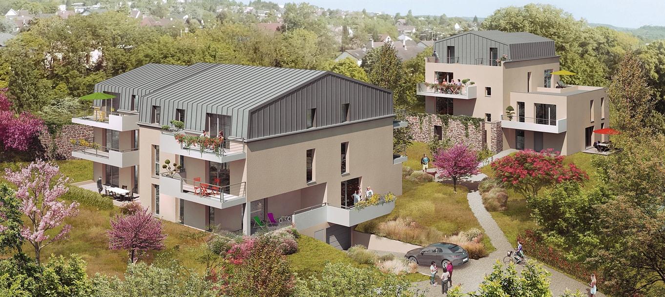 Perspective extérieure du programme Le Parc d'Eden situé à Dijon