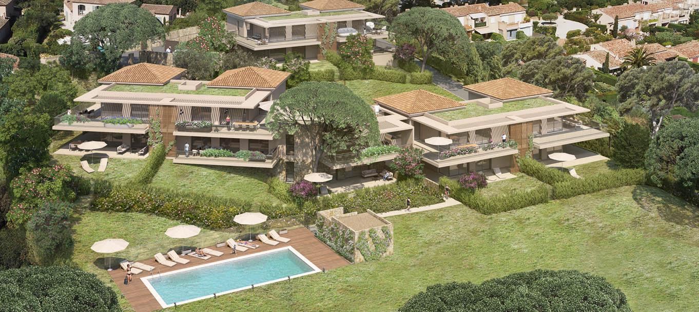 Perspective extérieure du programme Parc Croisette situé à Sainte-Maxime