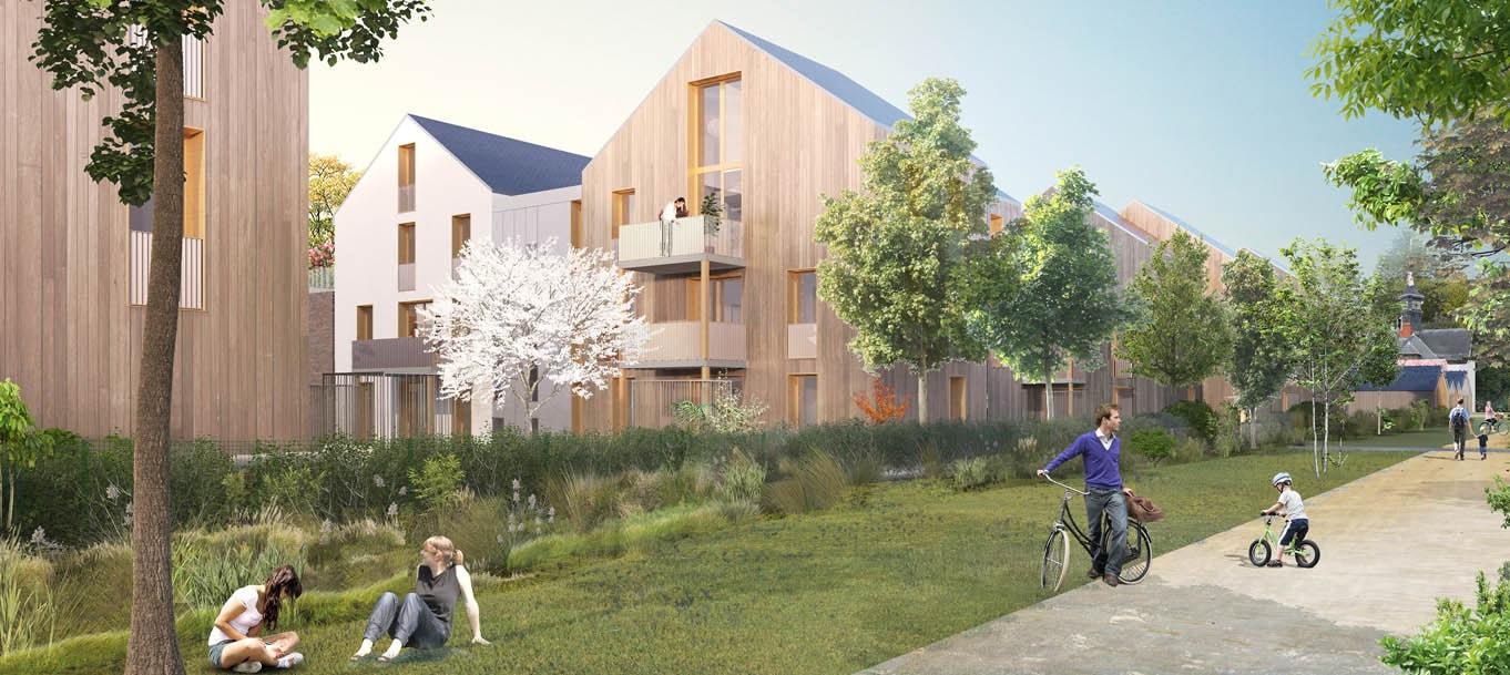 Perspective du programme Les Jardins Brunehaut situé à Senlis